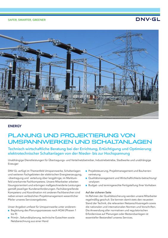 Planung und Projektierung von Umspannwerken und Schaltanlagen