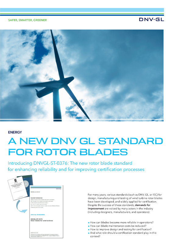 A new DNV GL standard for rotor blades
