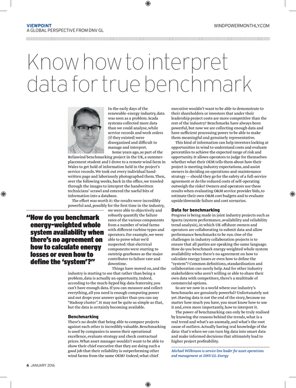 WPM magazine - Know how to interpret data for true benchmark