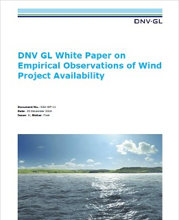 Empirical observations of wind project availability