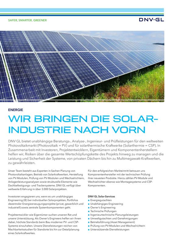 Wir bringen die Solarindustrie nach vorn