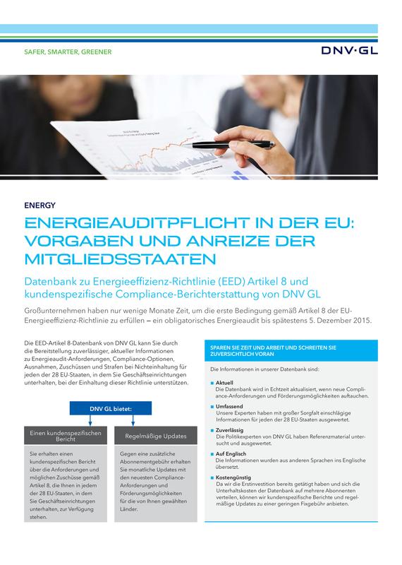 Energieauditpflicht in der EU: vorgaben und anreize der Mitgliedsstaaten