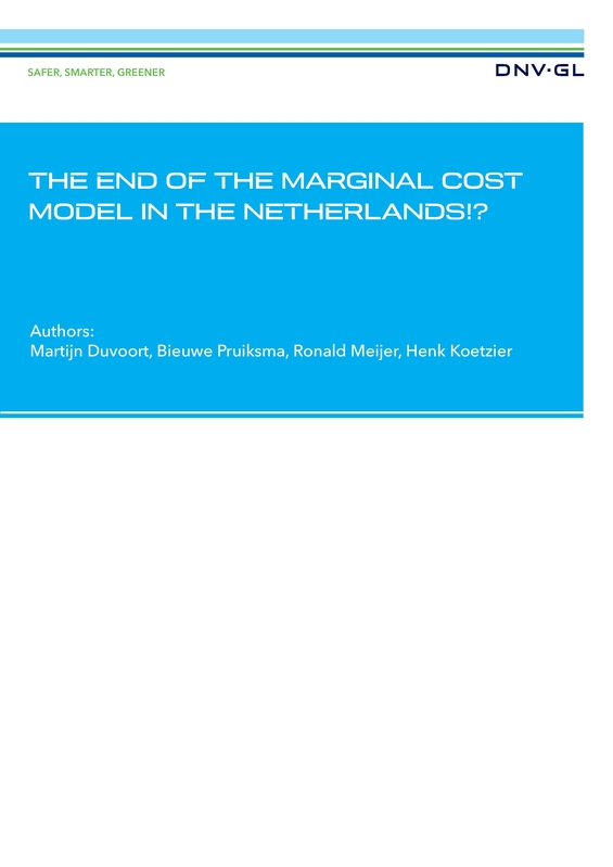 The end of the marginal cost model in the Netherlands?