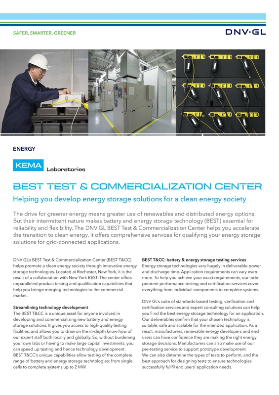 BEST Test & Commercialization Center