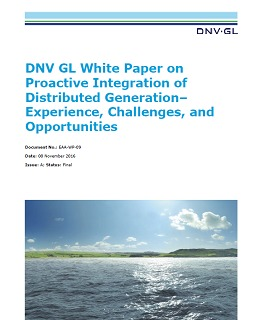 Proactive integration of distributed generation white paper
