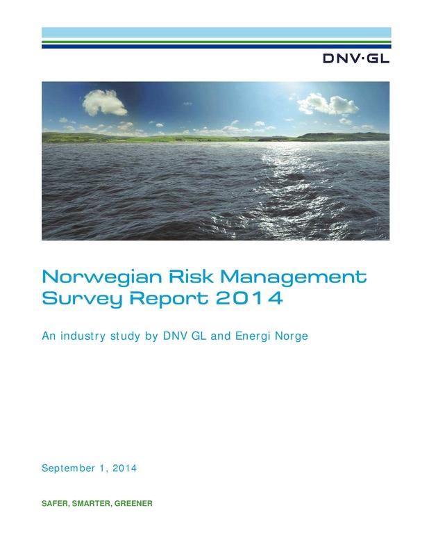 Norwegian Risk Management Survey Report 2014