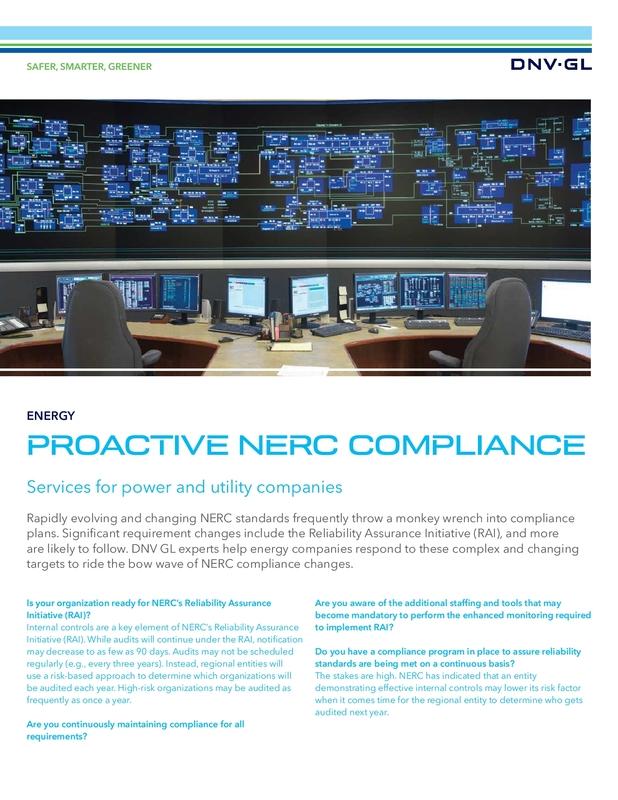 Proactive NERC Compliance