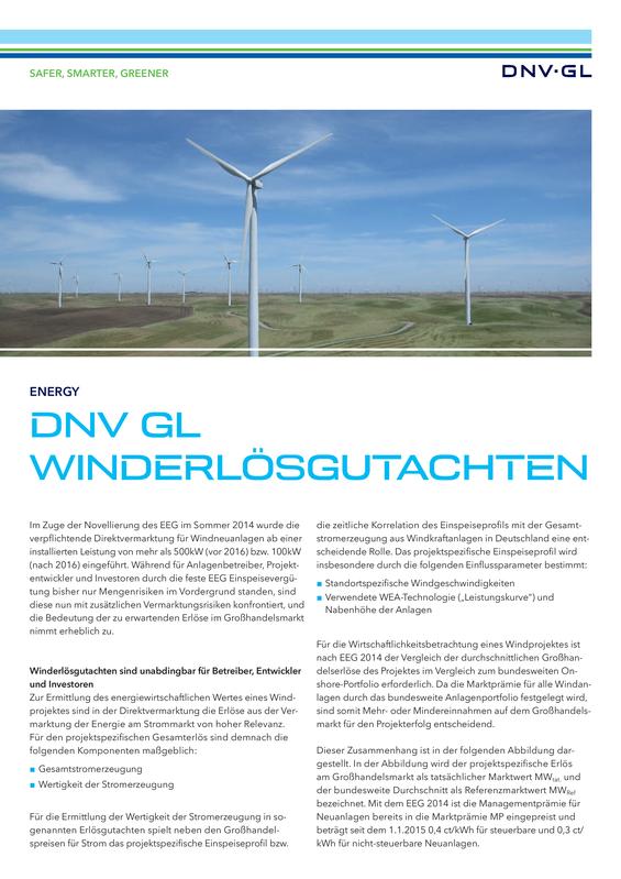 DNV GL Winderlösgutachten