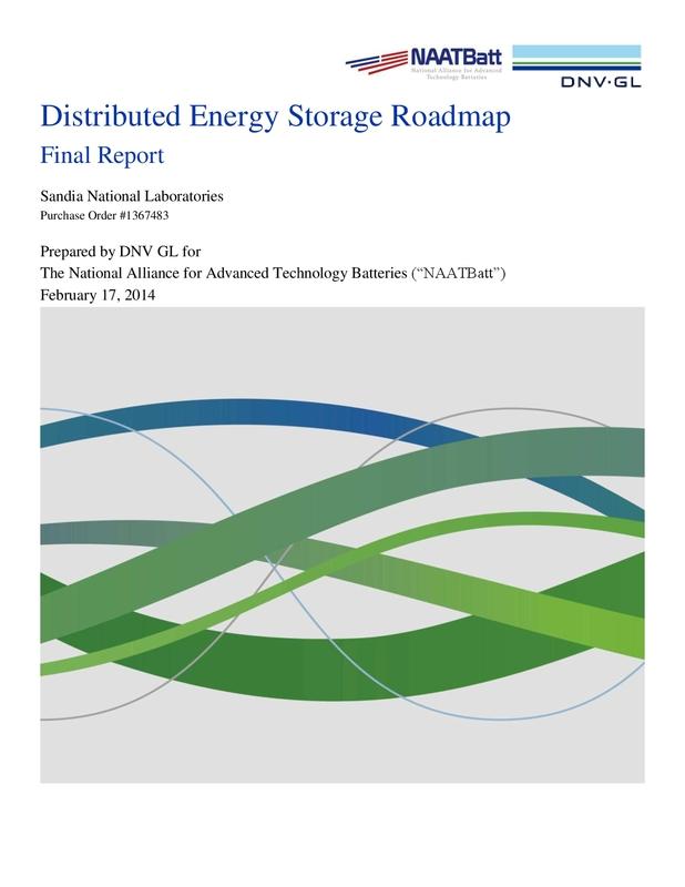DNV GL Report for NAATBatt: Distributed Energy Storage Roadmap