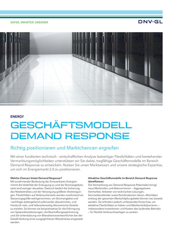 Geschäftsmodell Demand Response