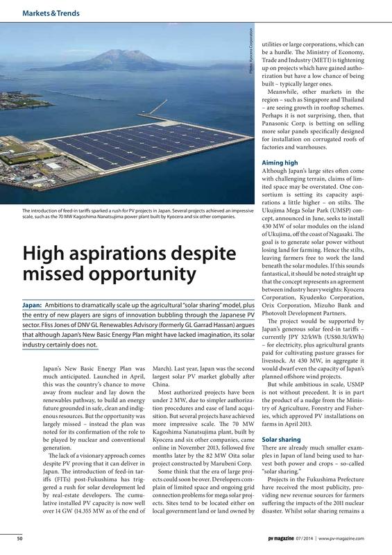 PV magazine 07-2014 High aspirations despite missed opportunity.pdf