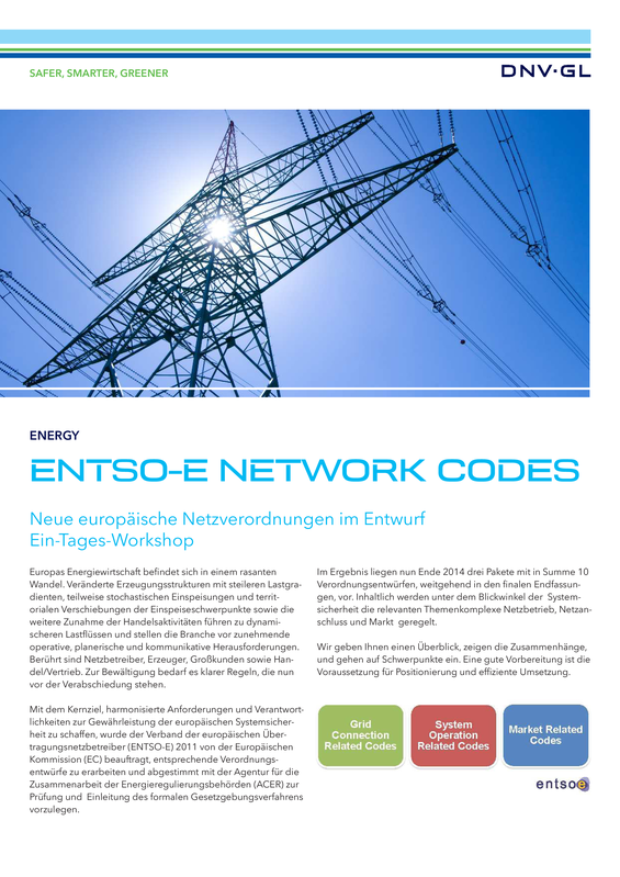 ENTSO-E Network Codes
