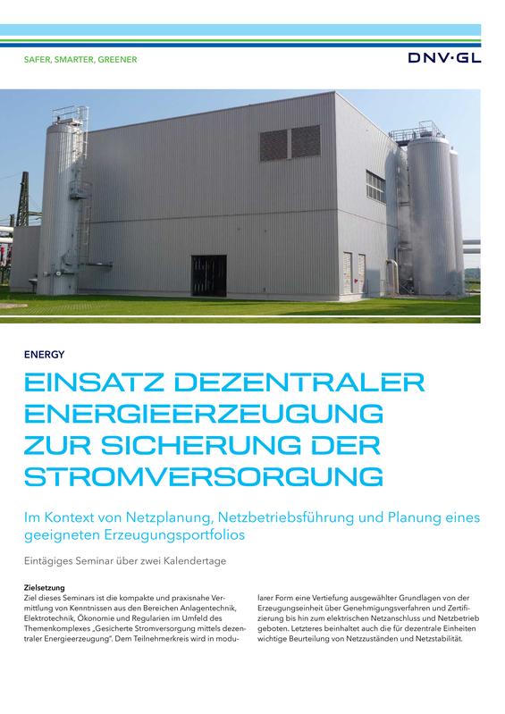 Einsatz Dezentraler Energieerzeugung zur Sicherung der Stromversorgung