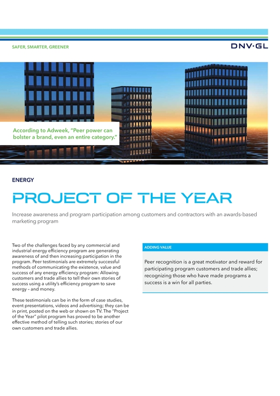 Project of the year program