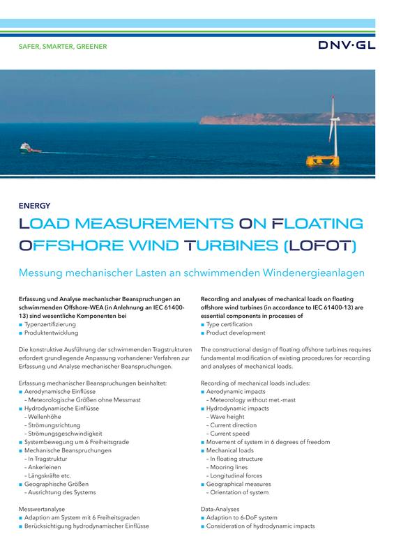 Load measurements on floating offshore wind turbines (LOFOT)