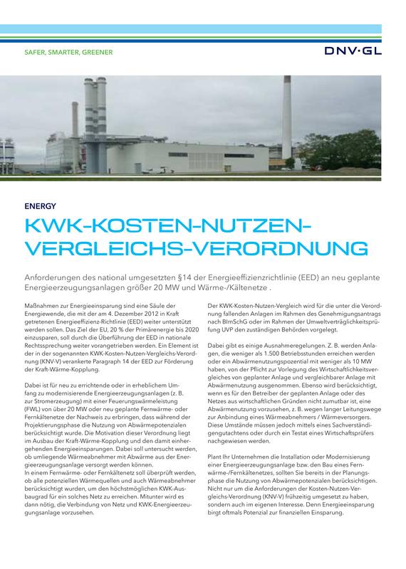 KWK-Kosten-Nutzen-Vergleichsverordnung