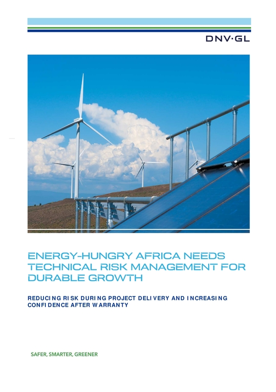 Energy-hungry Africa needs technical risk management for durable growth