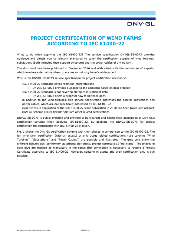 DNVGL-SE-0073 Project certification according to IEC 61400-22.pdf