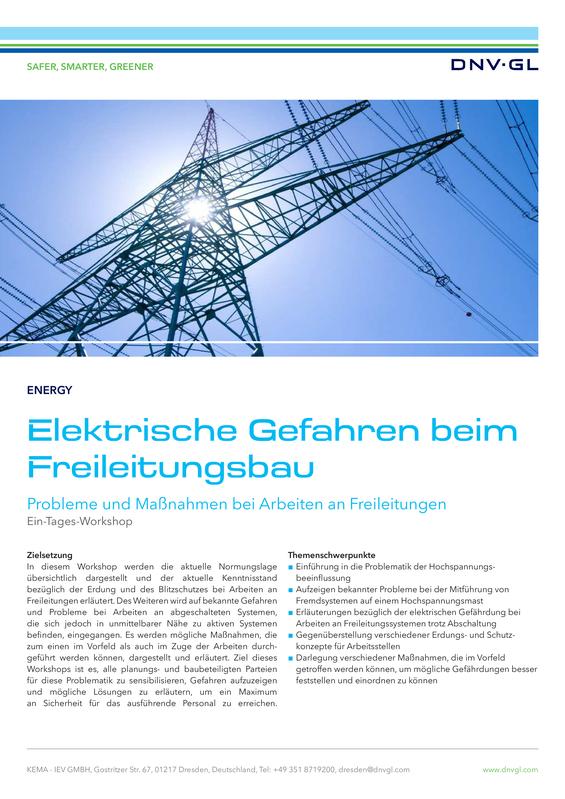 Elektrische Gefahren beim Freileitungsbau