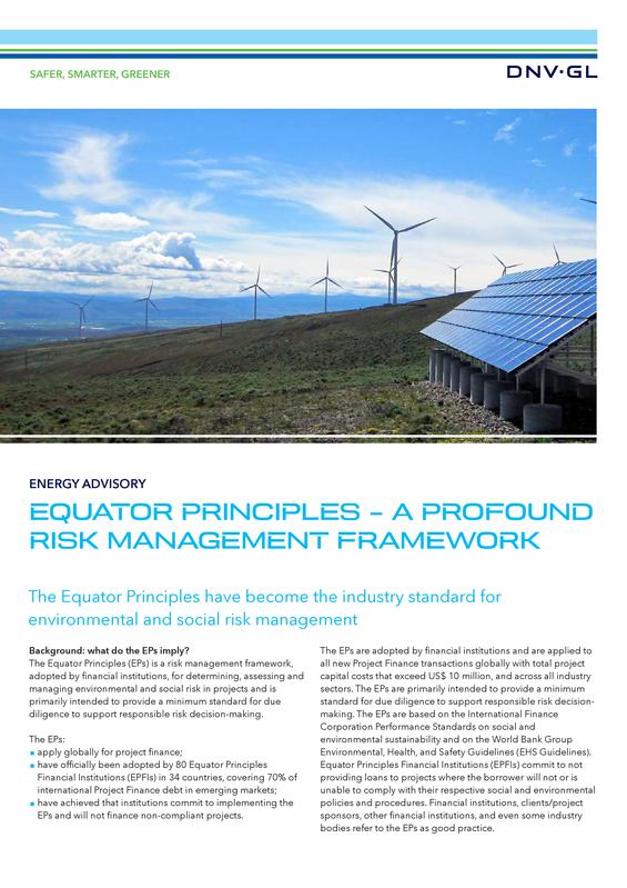 Equator principles  - a profound risk management framework