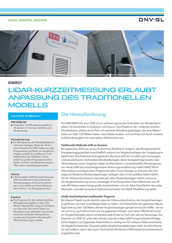 LiDAR-Kurzzeitmessung erlaubt Anpassung des traditionellen Modells