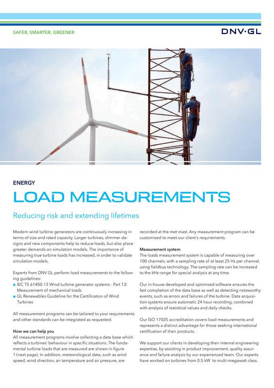 Load measurements for wind turbines