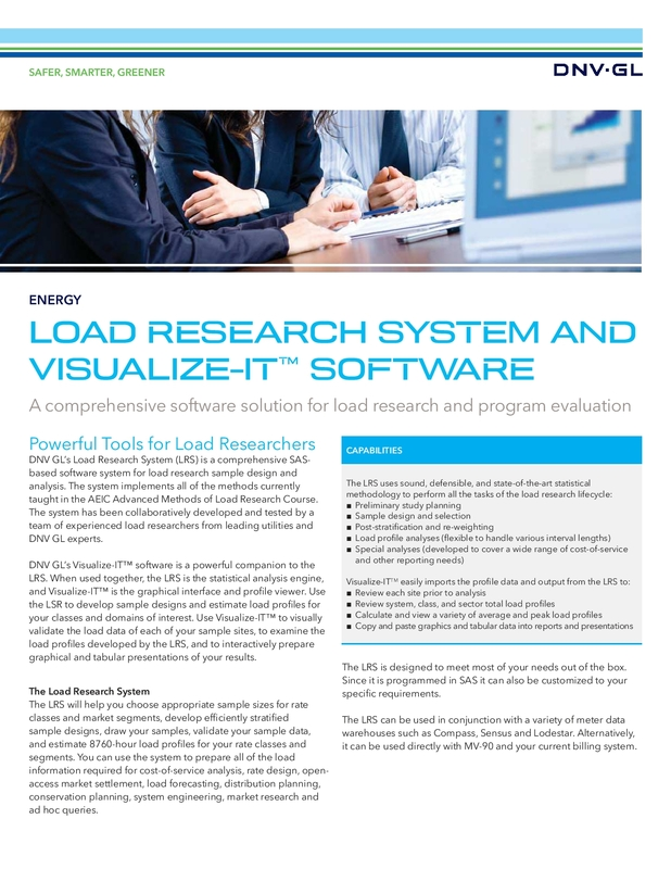 Load research system and visualize-IT software