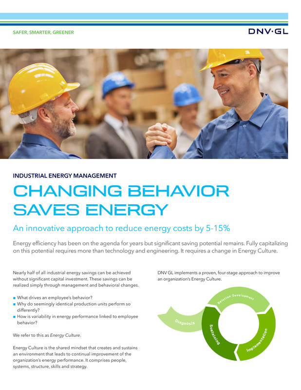 Changing behaviour saves energy in the industry