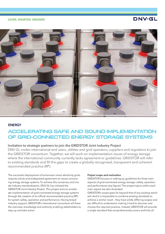 Accelerating safe and sound implementationof grid-connected energy storage systems