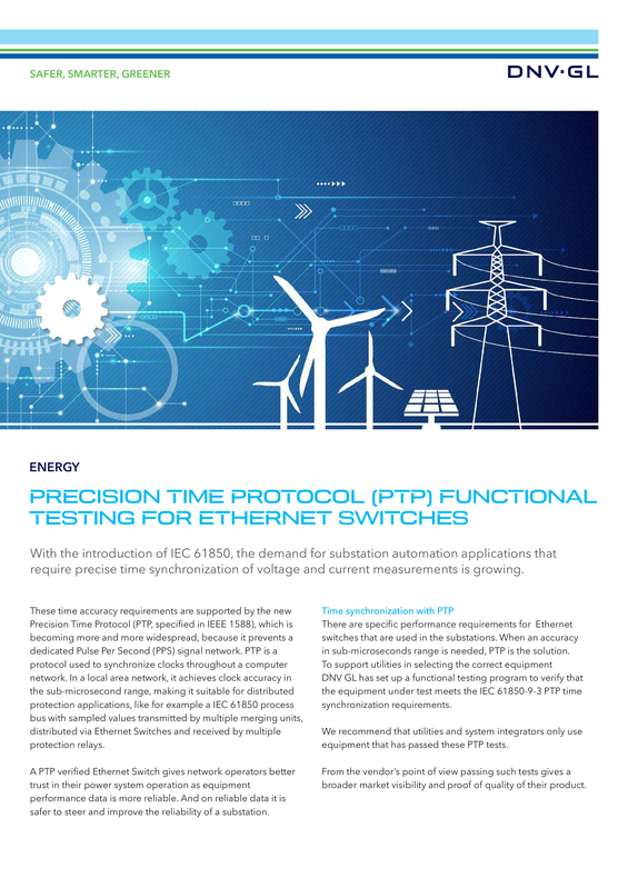 Precision Time Protocol (PTP) functional testing for ethernet switches
