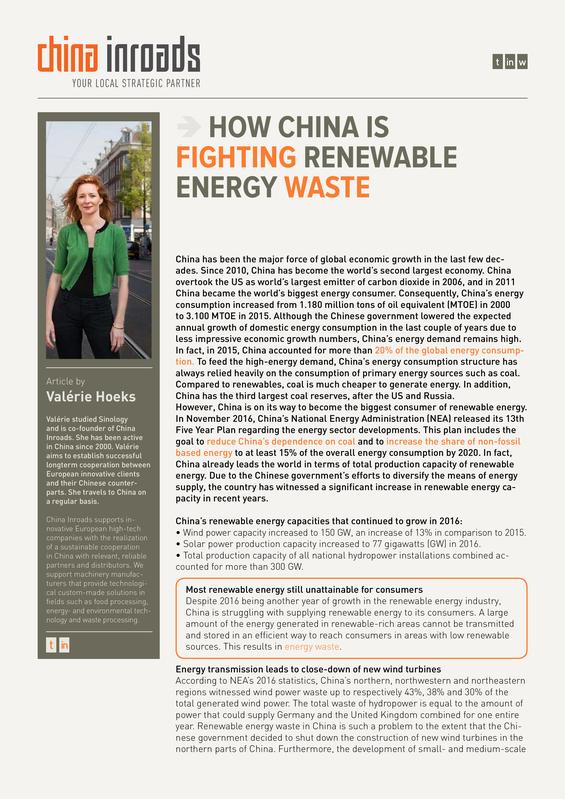 How China is fighting renewable energy waste