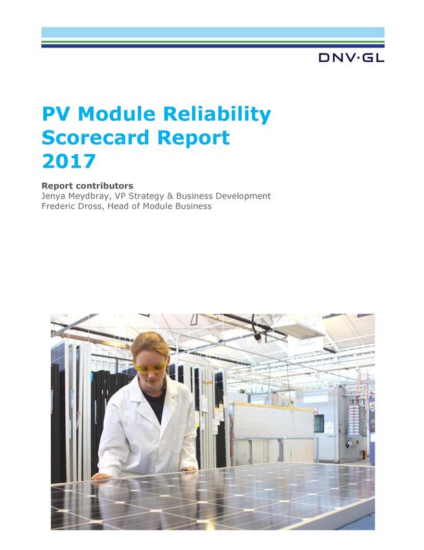 PV Module Reliability Scorecard Report 2017