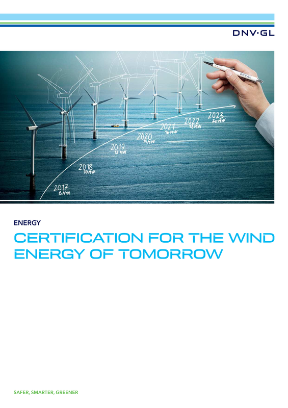 Certification for the wind energy of tomorrow