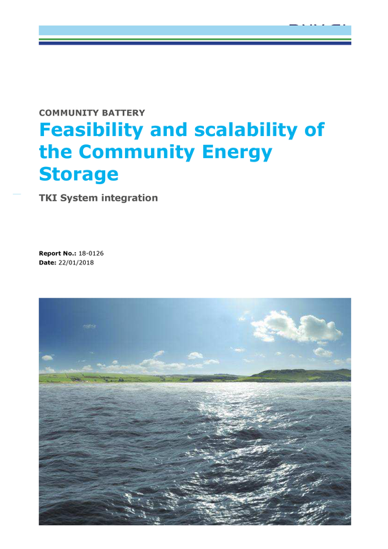 Feasibility and scaleability of community energy storage