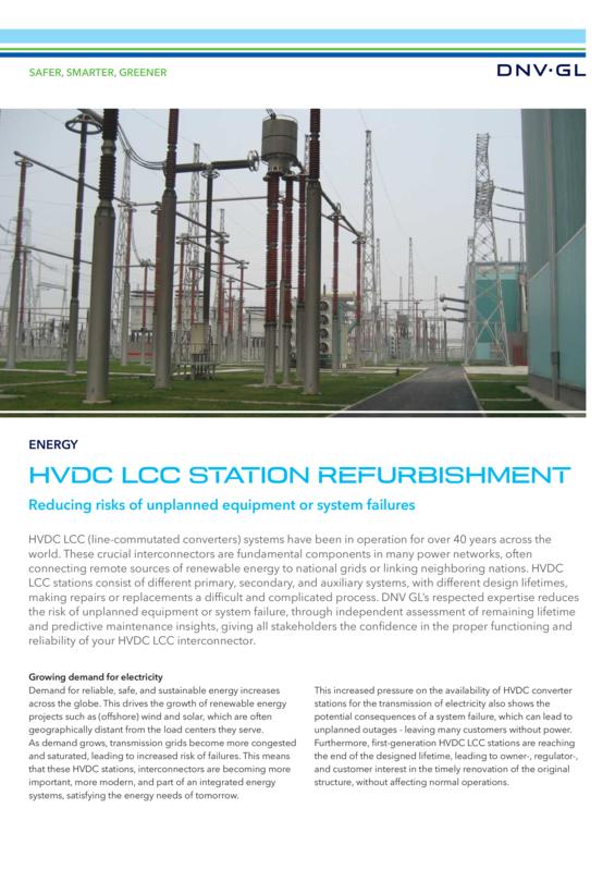 HVDC LCC station refurbishment