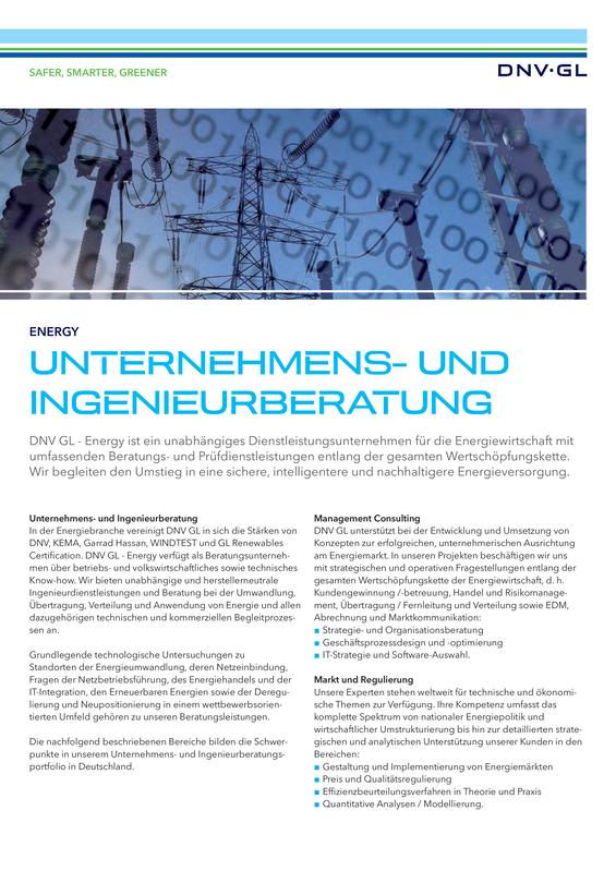 Unternehmens- und Ingenieurberatung in Deutschland
