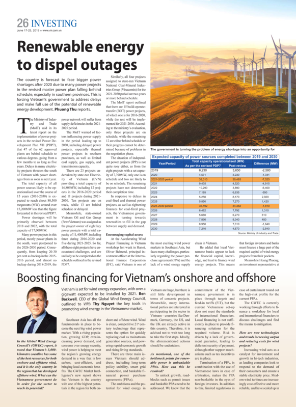 VIR - Renewable energy to dispel outages Peter Brun