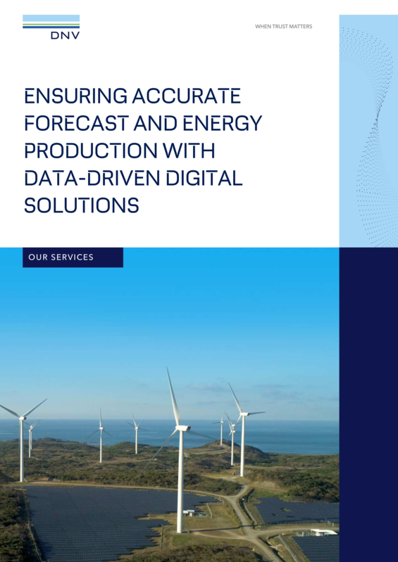 Ensuring accurate forecast and energy production with data-driven digital solutions