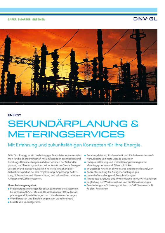 Sekundärplanung & Meteringservices