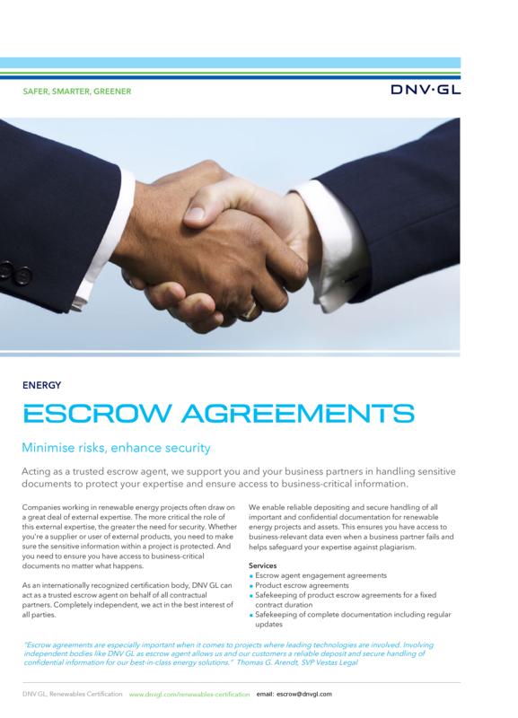 Escrow Agreements