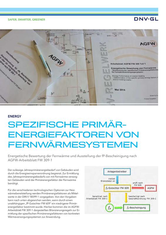 Spezifischer Primrenergiefaktoren von Fernwärmesystemen