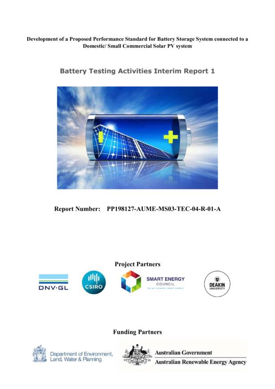 ABPS Battery testing activities - interim report 1