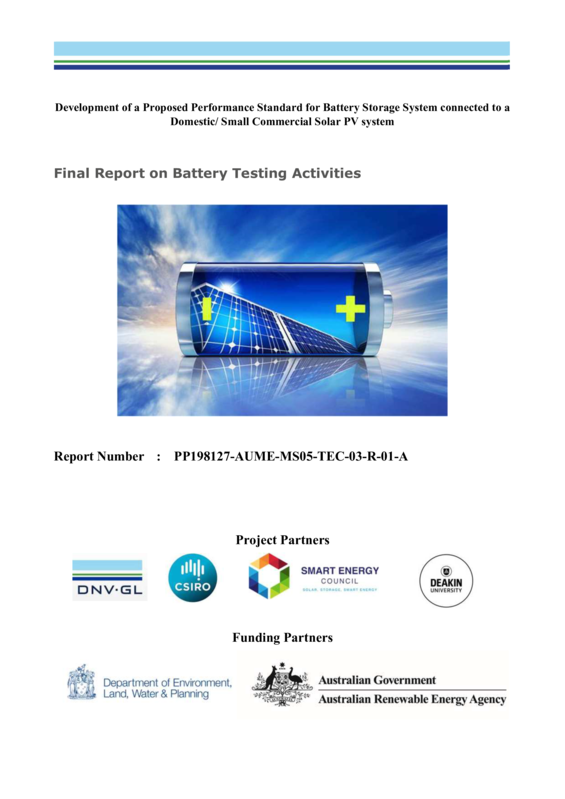 ABPS Final report on battery testing activities