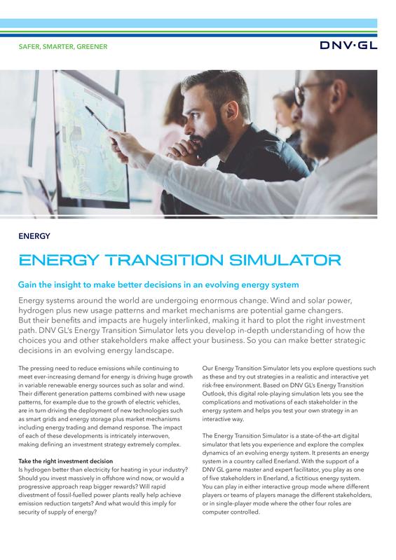 Energy transition simulator