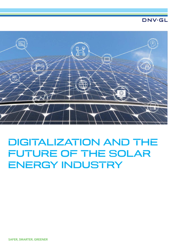 Digitalization and the future of the solar energy industry