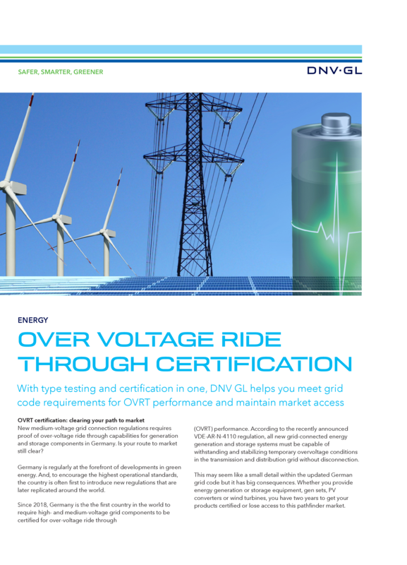 Over Voltage Ride Through Certification
