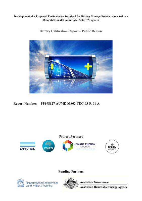 ABPS Battery calibration report - public release