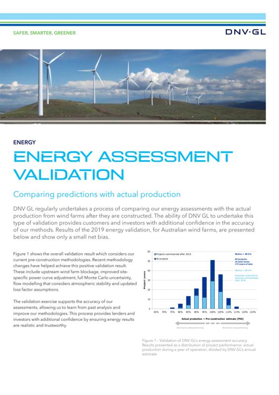 Australia Energy Assessment Validation