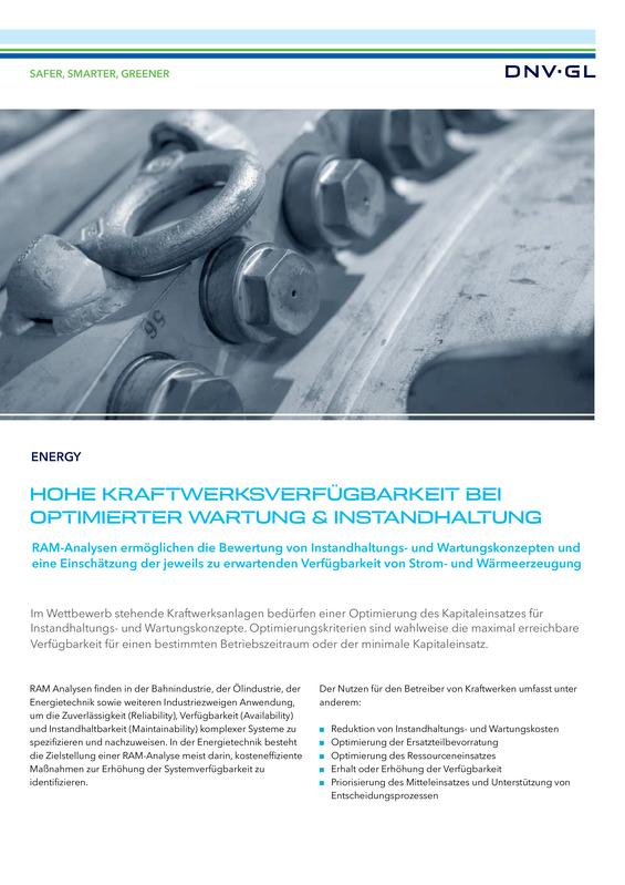 Hohe Kraftwerksverf�gbarkeit bei optimierter Wartung & Instandhaltung