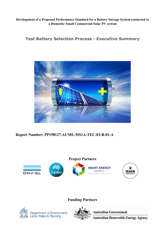ABPS Test battery selection process - executive summary